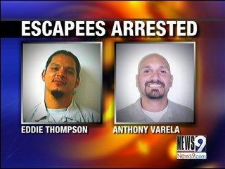 Inmates nabbed after brief escape