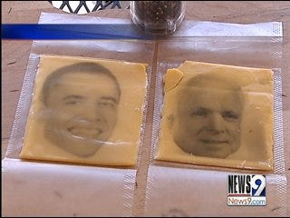 Presidential candidates get 'cheesy'