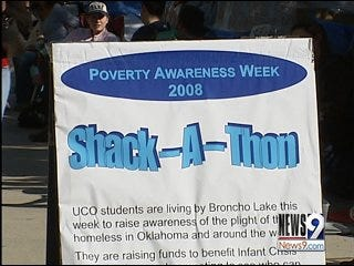 UCO students live as homeless