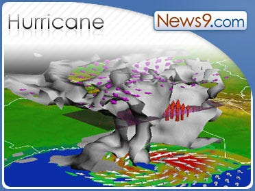 Hurricane Ike whips waves as it moves into Texas
