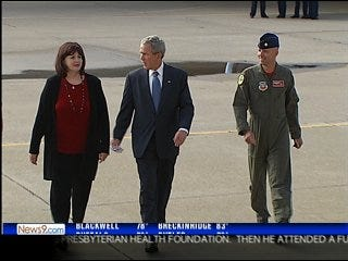 Ike on Bush's mind during state visit