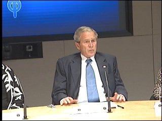 President Bush attends OKC women's roundtable