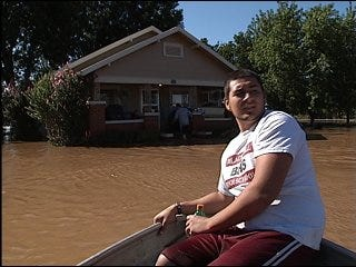 Blackwell cleans up after record-setting flood
