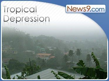 Tropical Depression Ten in the eastern Atlantic