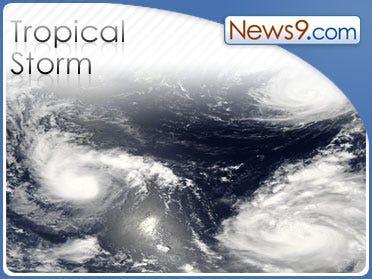 Tropical Storm Kyle moving northwest