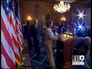 Oklahoma politicians cast votes in bailout bill proposal