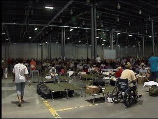 Evacuees travel back to Louisiana