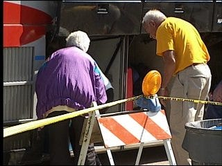 First bus of Gustav evacuees leaves