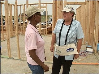 Habitat for Humanity builds woman's home