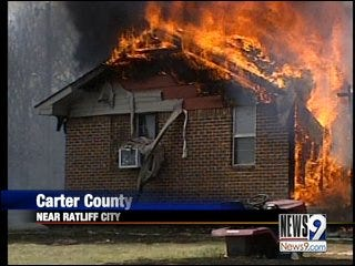 Fire Consumes Homes in Carter County