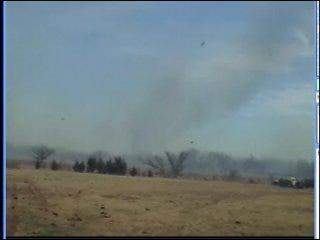 Grass Fire Spreads in Mooreland