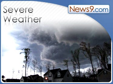 Two killed in severe weather; more in forecast today