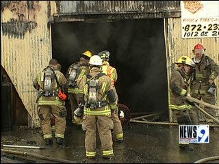 Fire, Explosions Damage General Machine Works Building