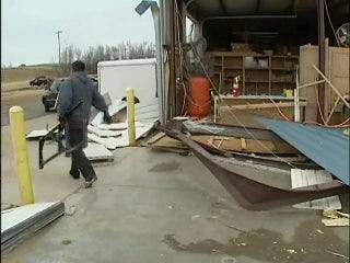Business Owners Brave Storm, Begin Clean Up