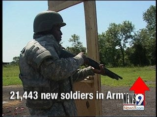 Number of Army Recruits Growing