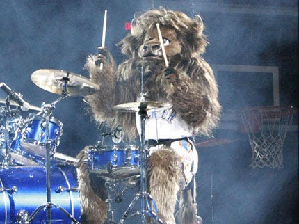 Rumble the Bison Debuts at Halftime