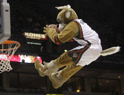 Mascot Falls Through Hoop, Tearing ACL