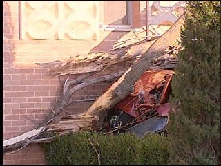 Elderly Man Nearly Crashes into Building