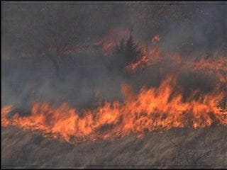 Winds Fuel Fires South of Metro