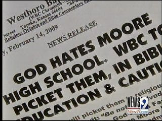 Kansas Church to Protest at Moore High School