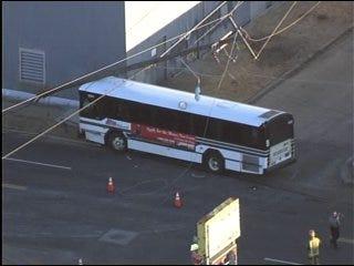 Metro Bus Crash Downs Power Line