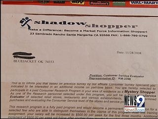 Secret Shopping Scams Target Oklahomans