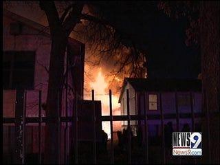 Oklahoma City Firefighters Battle Intense Apartment Fire
