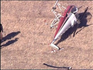Helicopter Makes Hard Landing in Caddo County
