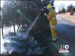 Multiple Grass Fires Burn 13 Acres in Metro
