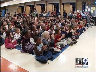 Oklahoma City Schools Pause to Watch History Made