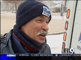 Postal Workers Battle the Winter Weather