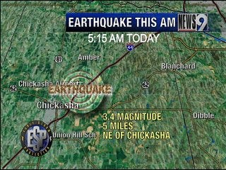 Earthquake Rumbles Grady County