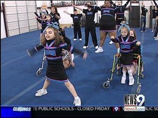 Special Needs Cheerleading Squad Delivers Spirit