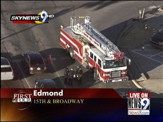 Motorcycle Involved in Edmond Wreck