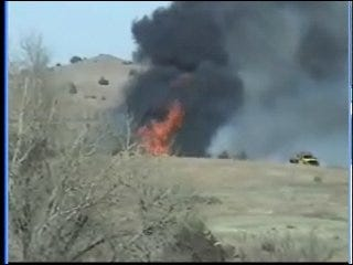 High Winds Fuel Grass Fire North of Woodward
