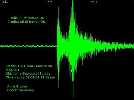 3.4 Magnitude Earthquake Rocks Central Oklahoma