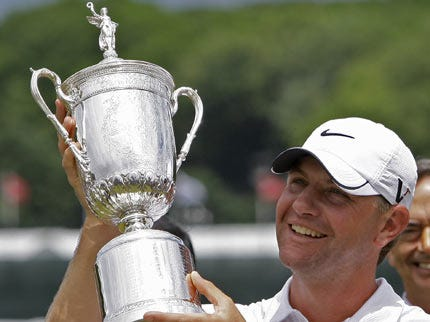 Glover Holds on for 2-Shot Win at U.S. Open