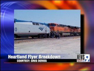 Heartland Flyer Hits Trouble on Tracks