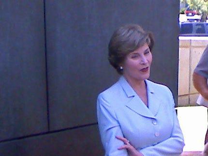 Laura Bush Visits Oklahoma City