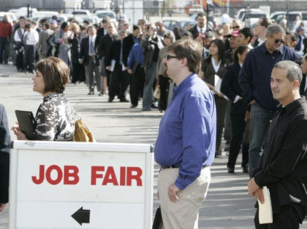 Nation's Unemployment Rate Jumps to Highest in 25 years