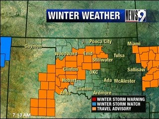 Winter Mix Moves Through Oklahoma