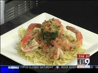 Provencal Style Shrimp with Artichoke Mushroom Pasta