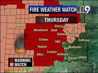 Thursday's Winds Bring High Fire Danger