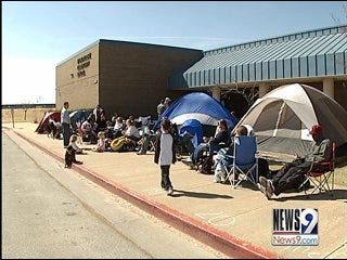Parents Camp Out for All Day Kindergarten Classes