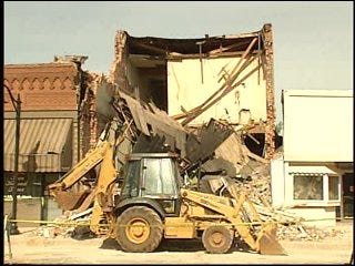 Building Collapses in Downtown Tecumseh