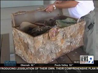 Trunk Full of Oklahoma Memories Washes Ashore in Galveston