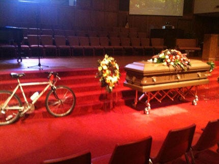 Edmond Residents Gather to Remember, Honor 'Bicycle Bob'