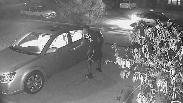 Home Surveillance Camera Records OKC Car Burglary