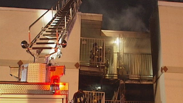50 People Evacuated After Oklahoma City Hotel Fire