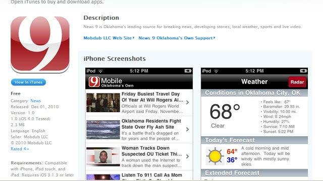 News 9 Launches iPhone App
